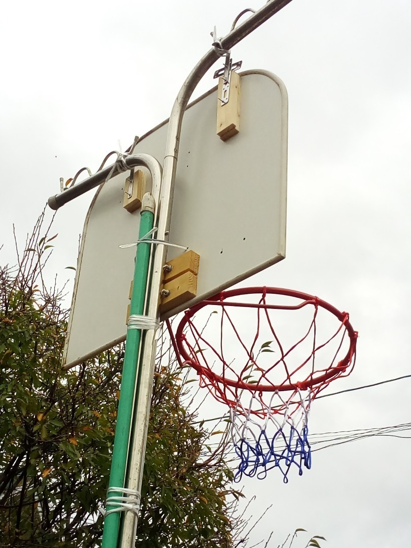 ゴール 手作り バスケット